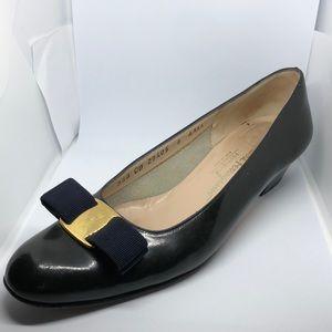 Salvatore Ferragamo's pumps size 9. Black